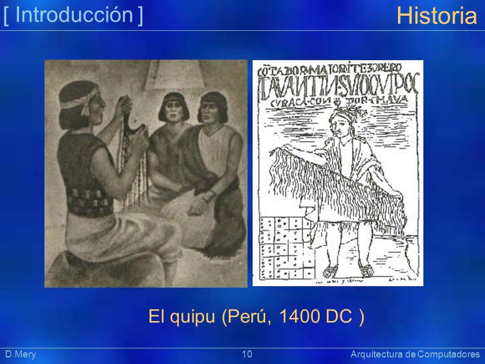 Historia [ Introducción ] El quipu (Perú, 1400 DC )